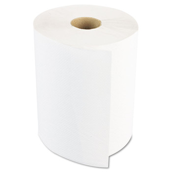 Boardwalk 8122 Hardwound Paper Towels, 8-in X 800ft, 1-Ply, White, 6 Rolls/carton
