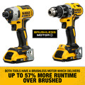 Dewalt DCK283D2 20V MAX XR Compact Brushless Lithium-Ion Cordless Drill/Driver and Impact Driver Combo Kit (2 Ah) image number 11