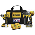 Dewalt DCK299D1T1 FlexVolt 20V MAX Cordless Lithium-Ion Hammer Drill and Impact Driver Combo Kit with 2 Batteries