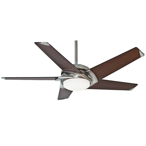 Casablanca 59106 54 in. Stealth DC Brushed Nickel Ceiling Fan with Light and Remote