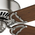 Casablanca 59511 54 in. Traditional Panama DC Brushed Nickel Walnut Indoor Ceiling Fan image number 4