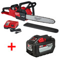 Milwaukee 272721HD-48111812BNDL M18 FUEL 16 in. Chainsaw Kit with FREE ADDITIONAL Battery Pack