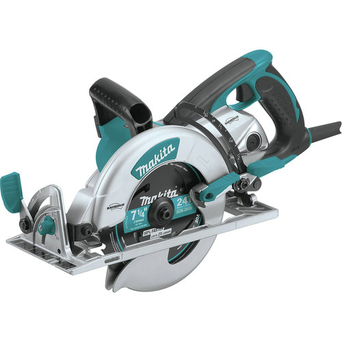 Keyless Corded Circular Saw 14 Amp w// Adjustable Bevel and Line Laser 7-1//4 in