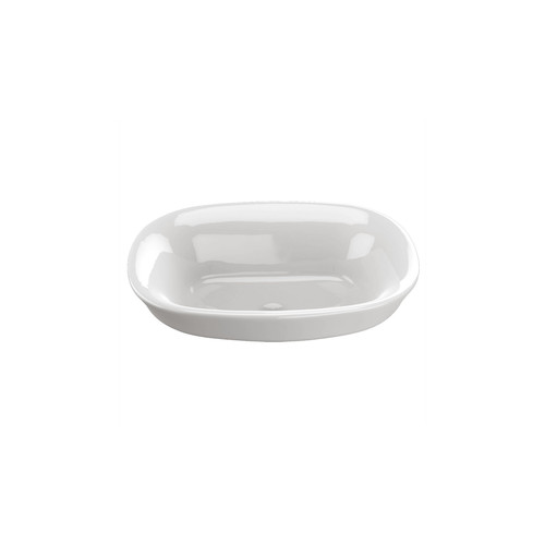 TOTO LT480G#01 Maris Vessel/Above Counter Porcelain 15.16 in. x 19.5 in. Round Bathroom Sink (Cotton White)