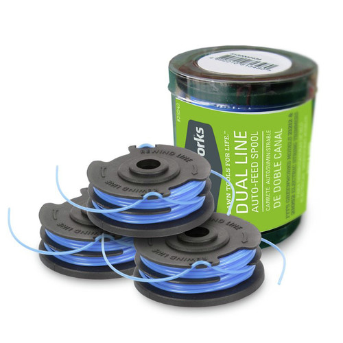 Greenworks 29242 0.065 x 20 ft. String Trimmer Dual Line Replacement Spool (3-Pack)