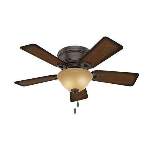 Hunter 51023 42 in. Conroy Onyx Bengal Ceiling Fan with Light