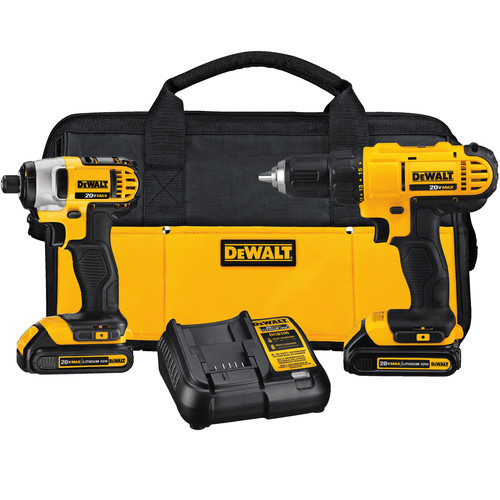 Dewalt DCK240C2 20V MAX Cordless Lithium-Ion Drill Driver and Impact Driver Kit image number 0