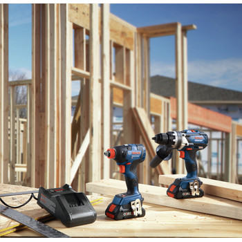 Bosch GXL18V-224B25 18V 2-Tool 1/2 in. Hammer Drill Driver and 2-in-1 Impact Driver Combo Kit with (2) CORE18V 4.0 Ah Lithium-Ion Batteries image number 5