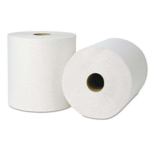 Tork 218004 6-Piece/Carton 7.88 in. x 800 ft. Hardwound Roll Towels - Natural White image number 0