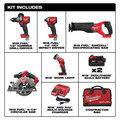 Milwaukee 2998-25 M18 FUEL Brushless Lithium-Ion Cordless 5-Tool Combo Kit (5 Ah) image number 1