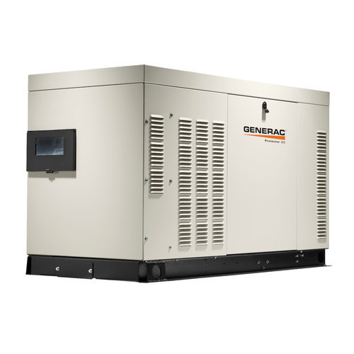 Generac RG02724ANAX Protector QS 120/240V 2.4L 27/25 kW Single Phase Liquid-Cooled Aluminum Automatic Standby Generator (LP/NG)