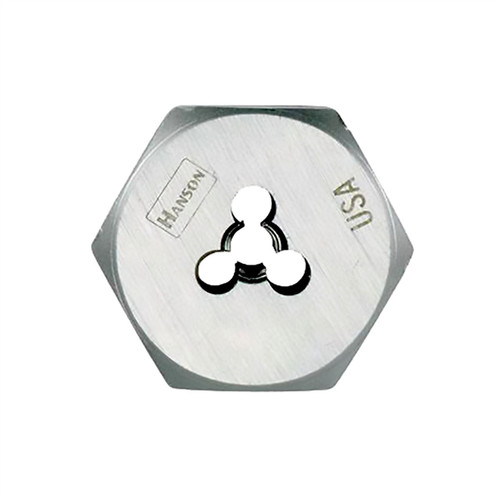 Irwin Hanson 7249 High Carbon Steel Re-threading Right Hand Hexagon Fractional Die 9/16 in. - 18 NF image number 0