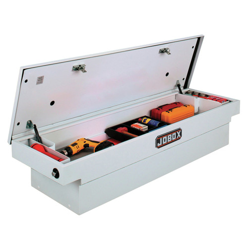 JOBOX PSC1456000 Steel Single Lid Deep Full-size Crossover Truck Box (White) image number 0