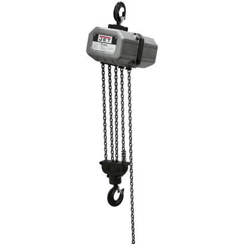 JET 5SS-3C-15 5 Ton Capacity 15 ft. 3-Phase Electric Chain Hoist image number 0