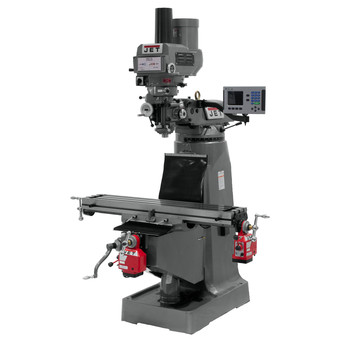 JET JTM-4VS 230/460V Variable Speed Milling Machine with ACU-RITE 200S DRO/X and Y-Axis Powerfeeds/Power Draw Bar