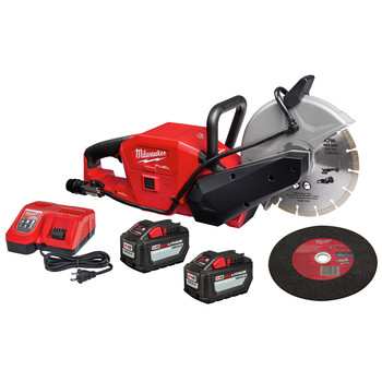 Milwaukee 2786-22HD M18 FUEL Lithium-Ion 9 in. Cut-Off Saw Kit with ONE-KEY (12 Ah)