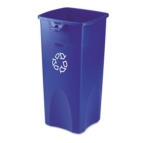 Rubbermaid 356973BE 23 Gal. Untouchable Recycling Container (Blue)