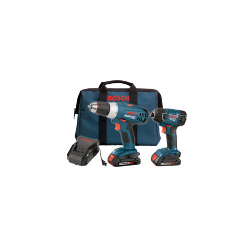 Factory Reconditioned Bosch CLPK23-180-RT 18V Lithium-Ion Drill Driver and Impact Driver Combo Kit