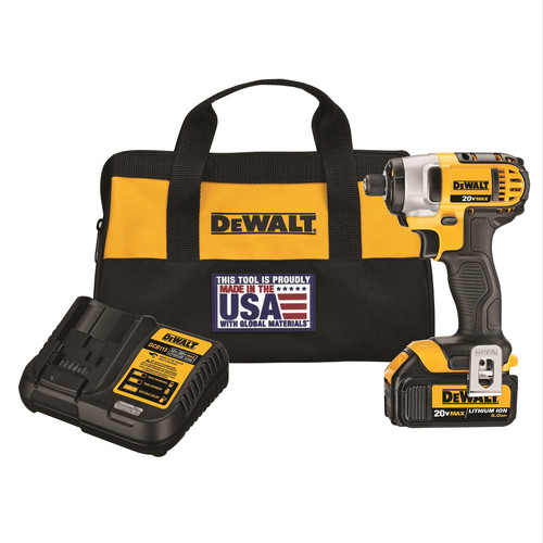 Factory Reconditioned Dewalt DCF885L1R 20V MAX 20V MAX Lithium-Ion 1/4 in. Hex Impact Driver Kit