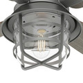 Hunter 50390 52 in. Port Royale Matte Silver Ceiling Fan with LED Light Kit and Remote image number 8