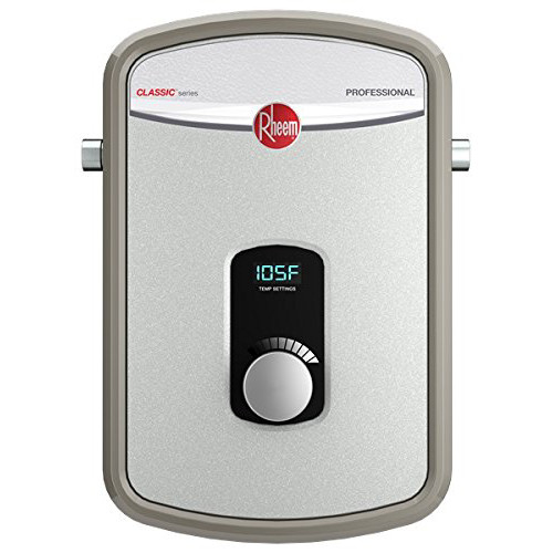 Rheem RTEX-13 13kW Electric Tankless Water Heater 240V Ext Adj Temp  1/2 in. Comp Con
