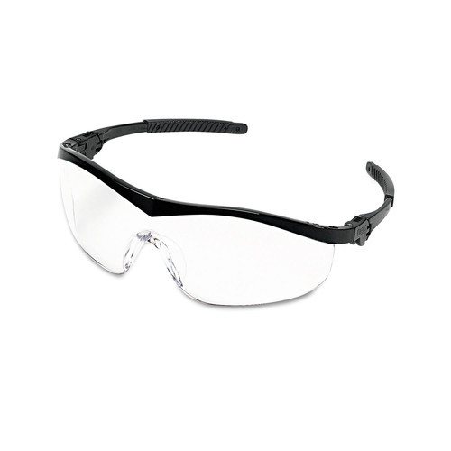 MCR Safety ST110 12-Piece/Box Storm Black Nylon Frame Wraparound Safety Glasses - Clear Lens image number 0