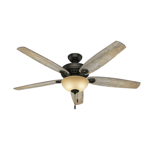 Hunter 54062 Valerian 60 in. Casual Brittany Bronze Barnwood Indoor Ceiling Fan with 2 Lights