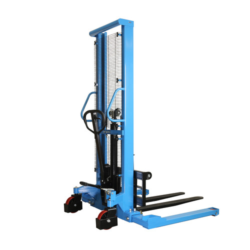 Eoslift H10J 2,200 lbs. 63 in. Raised Height Manual Straddle Stacker Pallet Truck