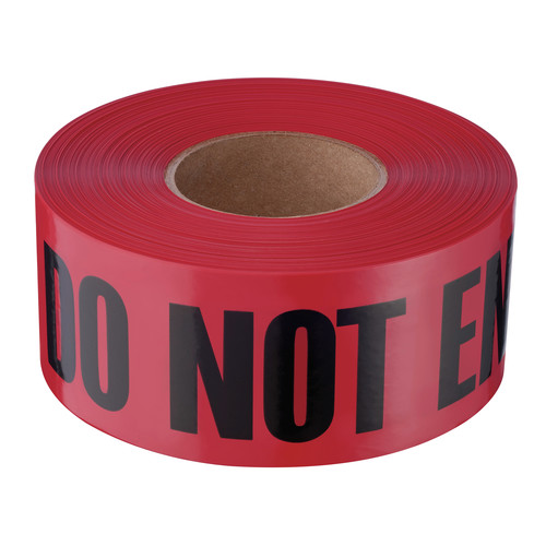 "Empire 11-081 Do Not Enter Barricade Tape, 3-in x 1000 ft, ""Do Not Enter"" Text, Red/Black image number 0"