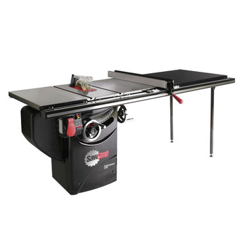 SawStop PCS175-TGP252 110V Single Phase 1.75 HP 14 Amp 10 in. Professional Cabinet Saw with 52 in. Professional Series T-Glide Fence System