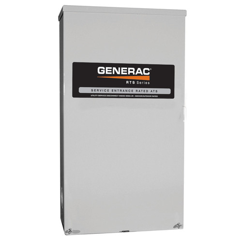 Generac RTSN200K3 200 Amp 277/480 3-Phase RTS Transfer Switch for 22 - 60 kW Generators
