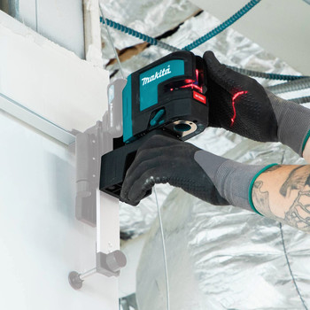 Makita SK106DZ 12V MAX CXT Lithium-Ion Cordless Self-Leveling Cross-Line/4-Point Red Beam Laser (Tool Only) image number 9