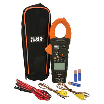 Klein Tools CL450 HVAC Cordless Electrical Clamp Meter Tester with Differential Temperature Kit