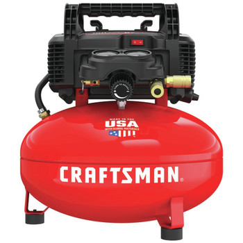 Factory Reconditioned Craftsman CMEC6150R 0.8 HP 6 Gallon Oil-Free Pancake Air Compressor