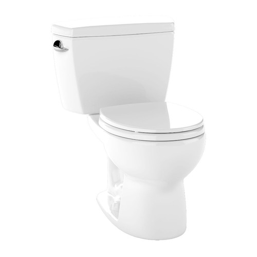 TOTO CST743S-01 Drake Round Two Piece Toilet (Cotton White)