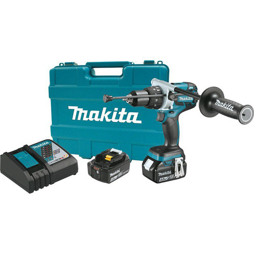 Makita XPH07MB 18V LXT 4.0 Ah Cordless Lithium-Ion Brushless 1/2 in. Hammer Driver Drill Kit