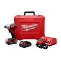 Factory Reconditioned Milwaukee 2656-82CT M18 18V Cordless Lithium-Ion 1/4 in. Hex Compact Impact Driver Kit