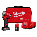 Milwaukee 2554-22 M12 FUEL Stubby 3/8 in. Impact Wrench Kit (2 Ah/4 Ah) image number 0