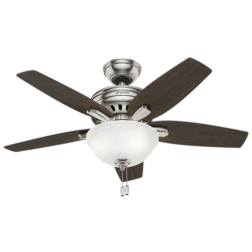 Hunter 51088 42 in. Newsome Brushed Nickel Ceiling Fan with Light
