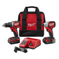 Milwaukee 2798-22CT M18 Cordless Lithium-Ion Compact Brushless Drill and Impact Driver Combo Kit