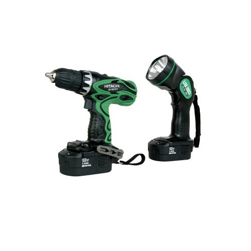 Hitachi DS18DVF3 18V Cordless 1/2 in. Drill Driver Kit with Flashlight (Open Box)