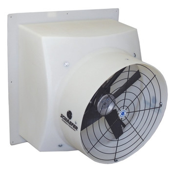 Schaefer F5 PFM204P12 20 in. 3-Phase 4-Blade Direct Drive Polyethylene Exhaust Fan