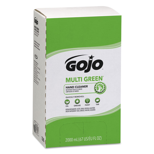 GOJO Industries 7265-04 Multi Green Hand Cleaner Refill, 2000ml, Citrus Scent, Green, 4/carton image number 0