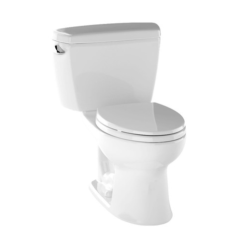 Toto Cst744sld 01 Drake Elongated Two Piece Toilet With Insulated Tank Cotton White