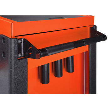Sunex 8035XTOR 3 Drawer Slide Top Utility Cart with Power Strip (Orange) image number 6