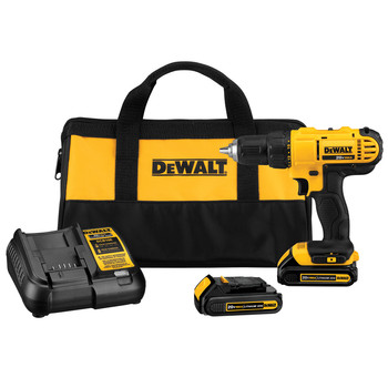 Dewalt DCD771C2 20V MAX Lithium-Ion Compact 1/2 in. Cordless Drill Driver Kit (1.3 Ah)