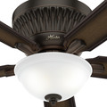 Hunter 59548 54 in. Chauncey Onyx Bengal Ceiling Fan with LED Light Kit and Remote Control image number 4