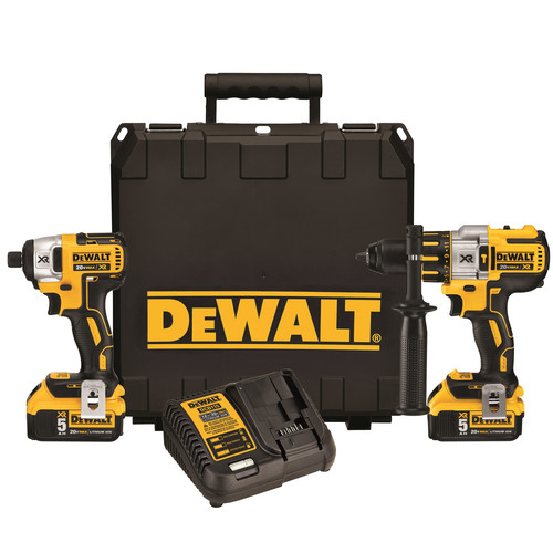 Factory Reconditioned Dewalt DCK296P2R 20V MAX XR 5.0 Ah Cordless Lithium-Ion Hammer Drill & Impact Driver Combo Kit