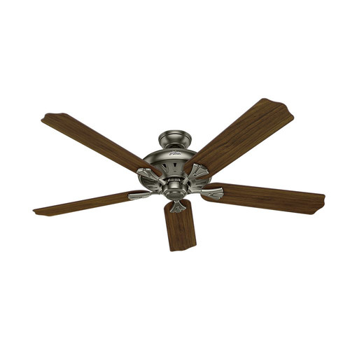 Hunter 54017 60 in. Royal Oak Antique Pewter Ceiling Fan with Handheld Remote
