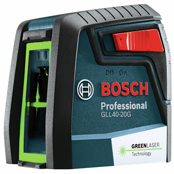 Bosch GLL40-20G Green-Beam Self-Leveling Cross-Line Laser image number 0
